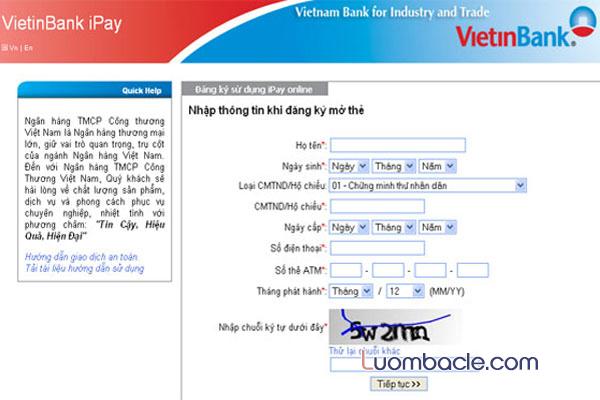 Tìm hiểu cách mở tài khoản Viettinbank
