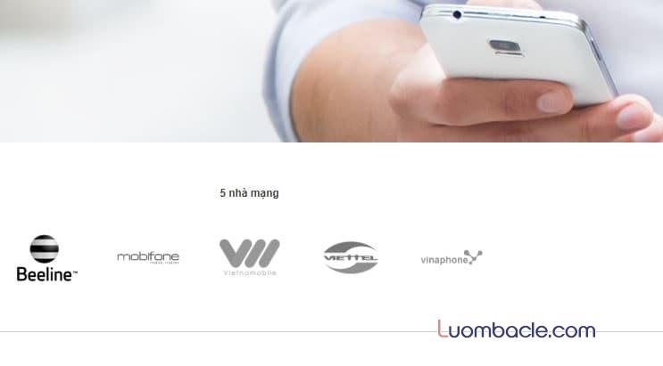 Dịch vụ nạp tiền điện thoại qua Xoom