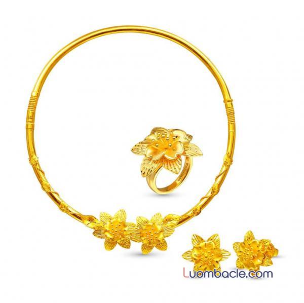 Giá của bộ trang sức cưới vàng 24k SJC