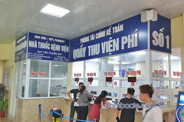 Quầy thu tiền tại Bệnh viện răng hàm mặt TW Hà Nội