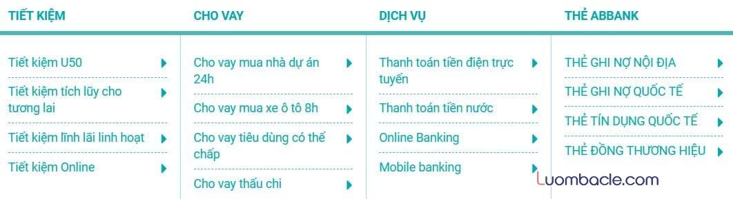 Sản phẩm dịch vụ tài chính của ABBank