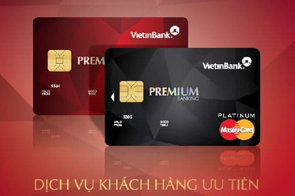 Thẻ ghi nợ quốc tế Premium Banking của VietinBank