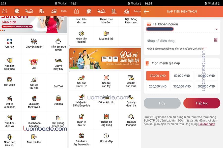 Tiện ích tính năng của E-Mobile Banking Agribank